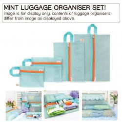 NEW! 4 Pouch luggage organisers - Mint