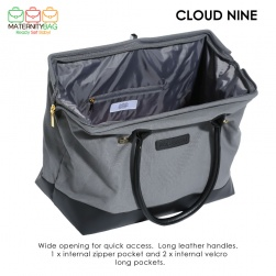 MaternityBag Hospital Bag Grey waterproof lining