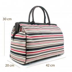 Large Designer Striped Tote
