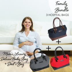 Family Hospital Bag for Mum, Bub and Dad Bundle