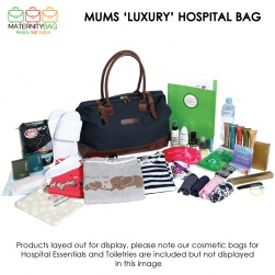 Luxury Mums Hospital Bag Layed Out
