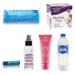 Hospital Bag items packed in your bag
