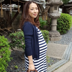 Maternity Dress Navy Stripe