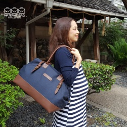 Maternity Dress with Navy hospital bag