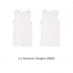 Newborn White Singlets for Baby