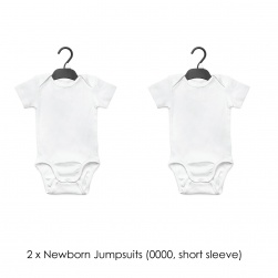 2 x Newborn Jumpsuits (0000, short sleeve)